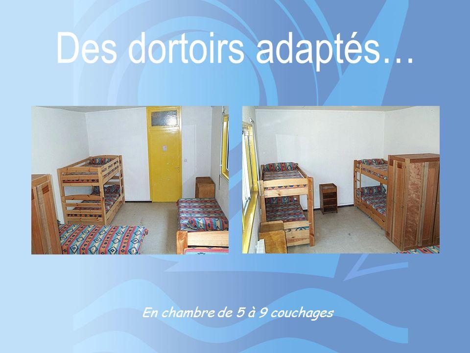 Des dortoirs adaptés… En chambre de 5 à 9 couchages