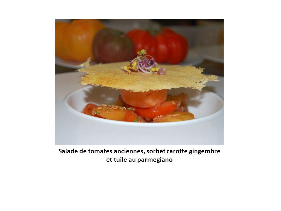 Mousseline de patidou, émulsion de pain brulée et mozzarella di bufalla