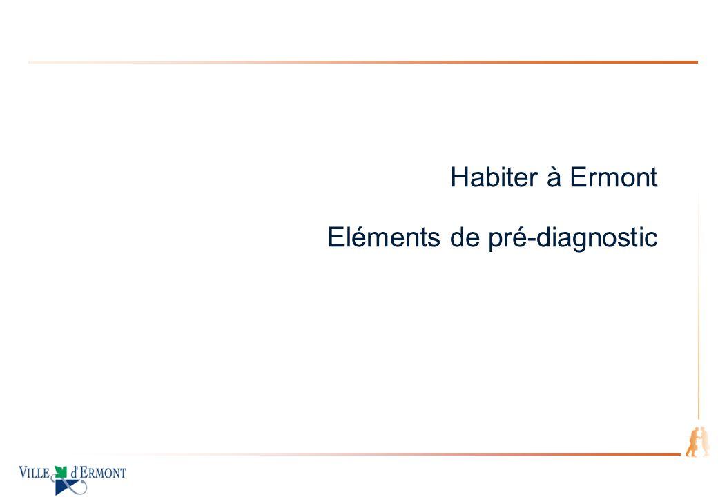 page 5 Habiter à Ermont (1/5) Les forces du territoire La ville est passée de 27474 habitants (RGP99) à 28404 habitants (RGP2006) Un territoire attractif par : Sa proximité avec Paris du fait dune bonne accessibilité 15 km par lautoroute Quatre gares sur le territoire Des connexions avec la Gare St Lazare, Paris Nord et le RER C Sa proximité avec la forêt domaniale de Montmorency La présence de nombreux espaces verts Une offre mixte : 66% du territoire est couvert par de lHabitat pavillonnaire 47% de logements sociaux (selon les critères de la DSU) La ville dErmont est signataire dune Charte Intercommunale du Logement Social qui fixe les objectifs suivants: Objectif 1 : ASSURER UNE VEILLE ET REPONDRE AUX PERSONNES A BESOINS SPECIFIQUES Objectif 2 : DEVELOPPER LA QUALITE ENVIRONNEMENTALE DU PARC Objectif 3 : RENFORCER LINFORMATION POUR ASSURER LÉVALUATION DE LA POLITIQUE DE LHABITAT ET LANIMATION INTERPARTENARIALE Une planification de lespace et de lHabitat soucieuse des enjeux environnementaux et sociaux Schéma directeur immobilier (rapport Socotec portant sur la performance énergétique, laccessibilité, la sécurité, le confort) Végétalisation obligatoire des toitures terrasses des immeubles collectifs inscrite dans la modification du PLU en cours excepté dans le zone U5 (ZAC) Bonification de droits à construire sur la Zone U1 (pavillonnaire) opérationnelle dès approbation de la modification du PLU en cours