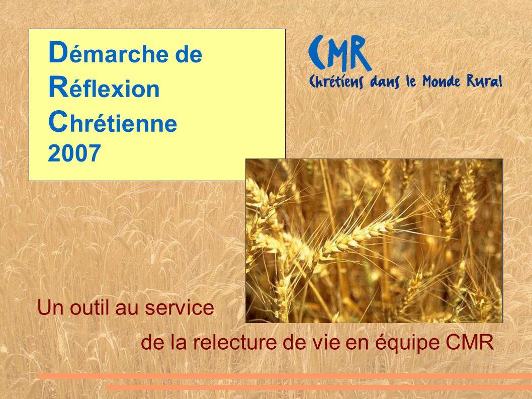 D émarche de R éflexion C hrétienne 2007 Un outil au service de la relecture de vie en équipe CMR