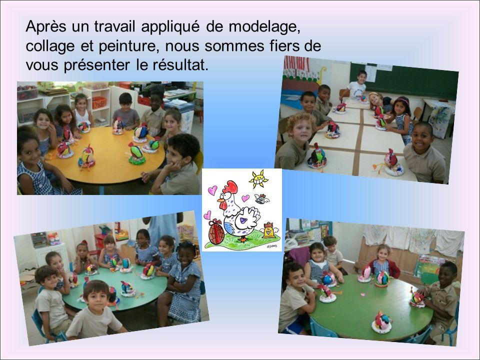 Après un travail appliqué de modelage, collage et peinture, nous sommes fiers de vous présenter le résultat.