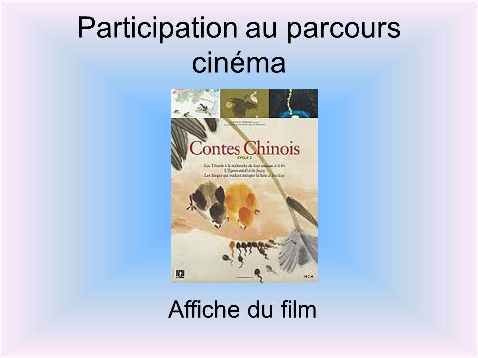 Participation au parcours cinéma Affiche du film