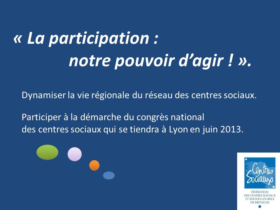 « La participation : notre pouvoir dagir . ».