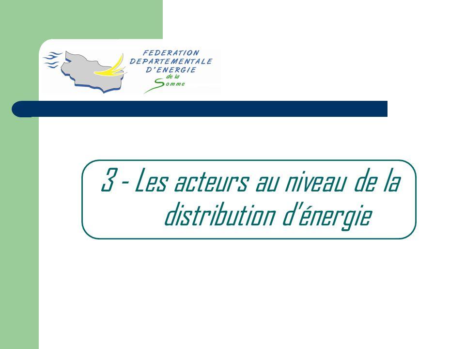 3 - Les acteurs au niveau de la distribution dénergie