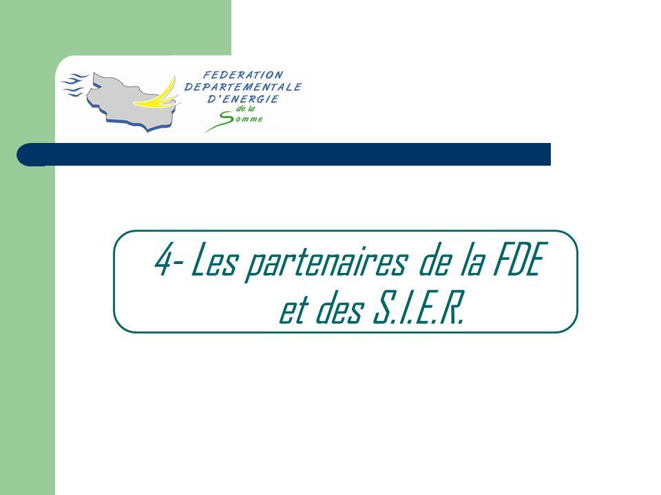 4- Les partenaires de la FDE et des S.I.E.R.