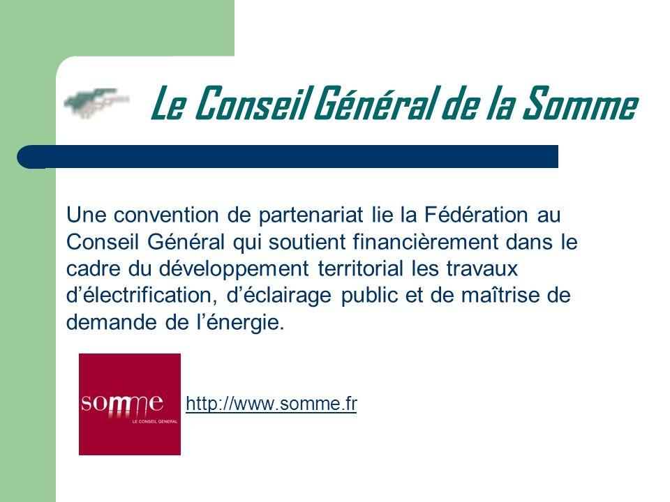 Une convention de partenariat lie la Fédération au Conseil Général qui soutient financièrement dans le cadre du développement territorial les travaux
