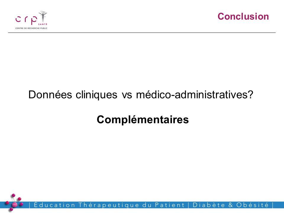 www.crp-sante.lu Conclusion Données cliniques vs médico-administratives? Complémentaires