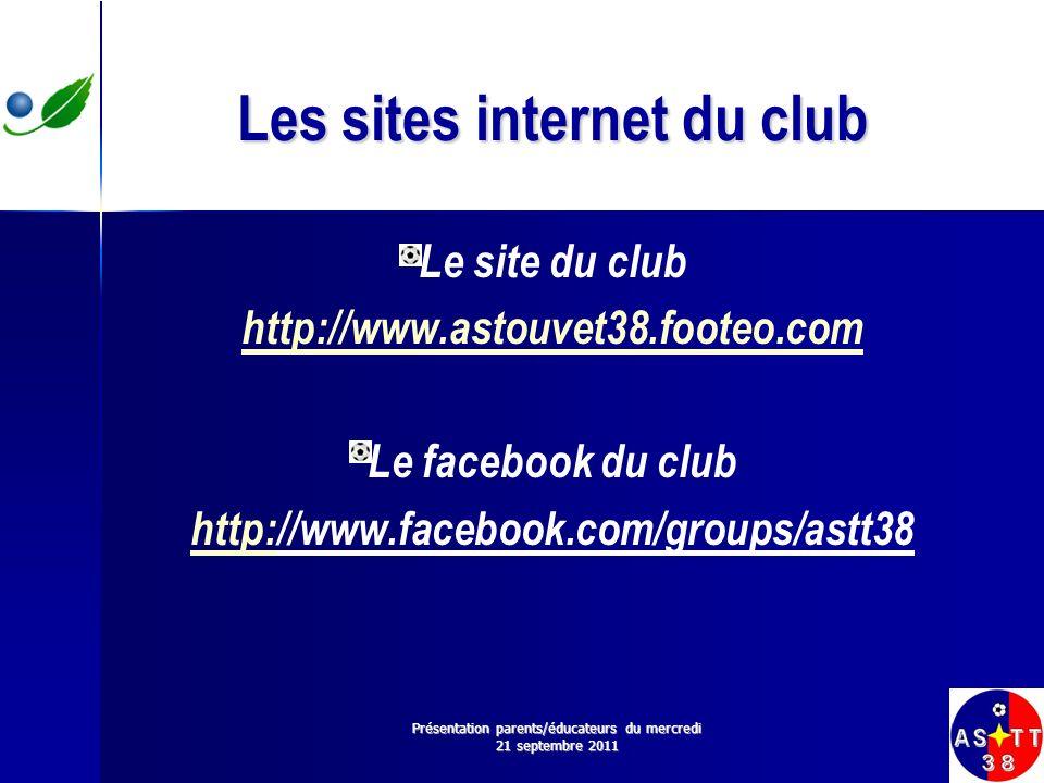 Les sites internet du club Le site du club http://www.astouvet38.footeo.com Le facebook du club http:http://www.facebook.com/groups/astt38 Présentatio