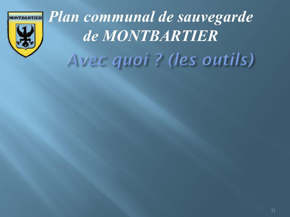 11 Plan communal de sauvegarde de MONTBARTIER