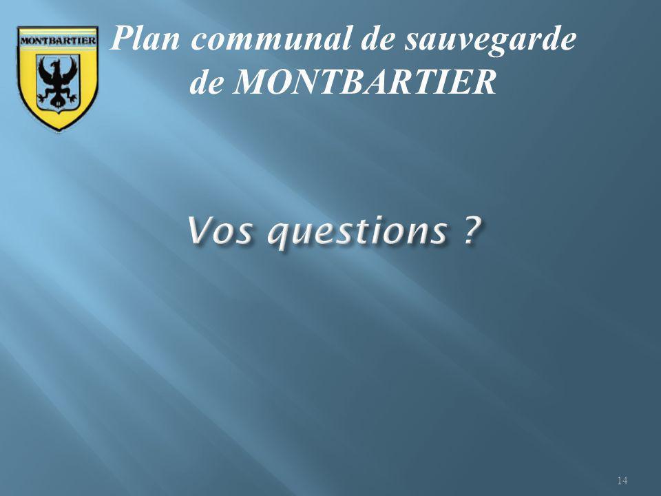 14 Plan communal de sauvegarde de MONTBARTIER