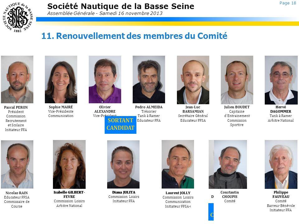 Société Nautique de la Basse Seine Assemblée Générale - Samedi 16 novembre 2013 Laurent JOLLY Commission Loisirs Communication Initiateur FFSA< David