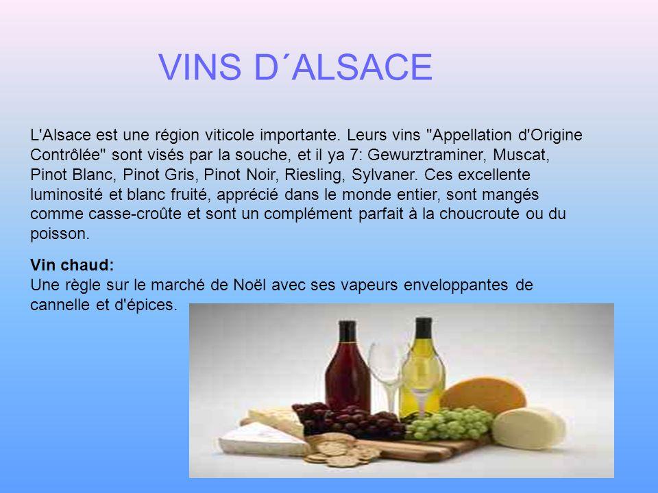 L'Alsace est une région viticole importante. Leurs vins