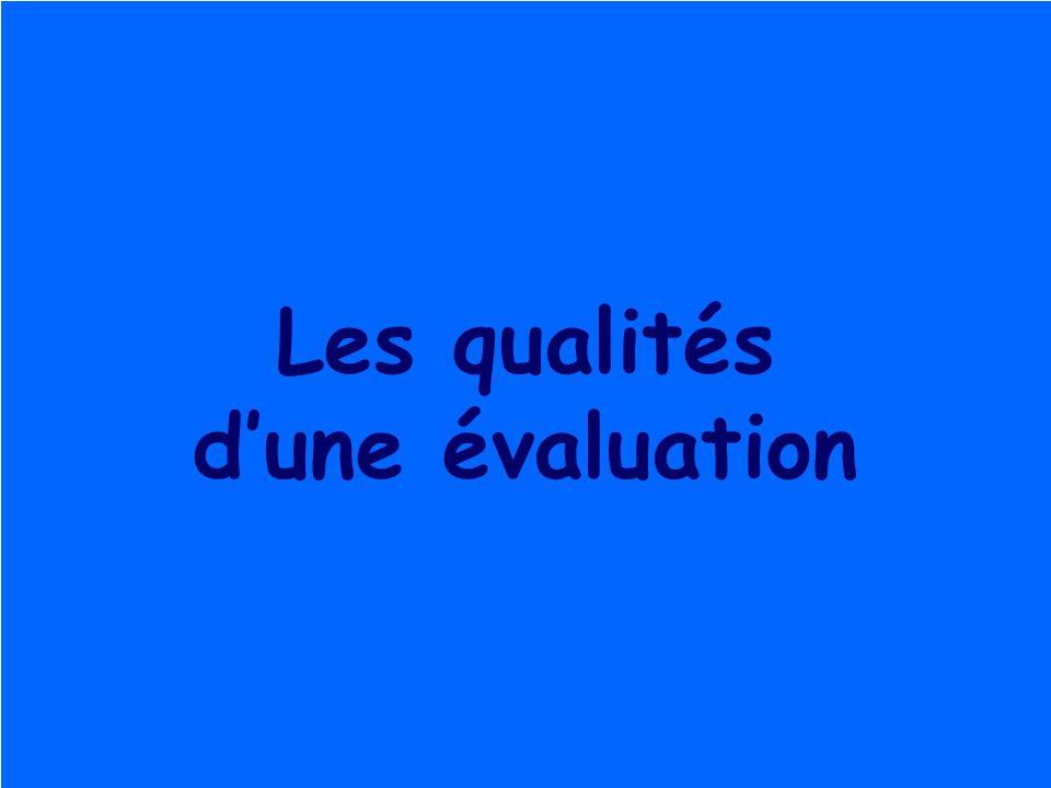 Roegiers 20046 Les qualités dune évaluation