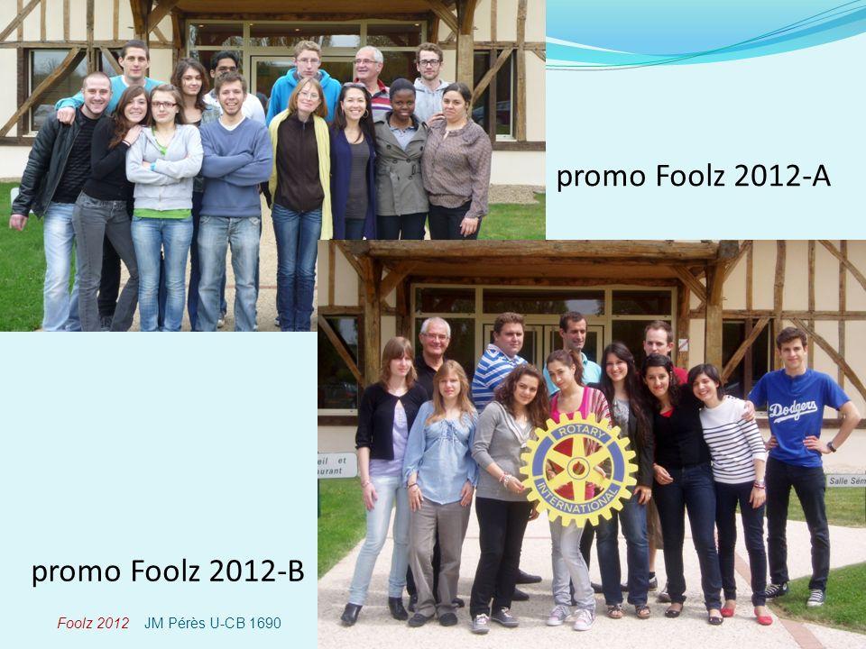 Foolz 2012 JM Pérès U-CB 1690 promo Foolz 2012-A promo Foolz 2012-B