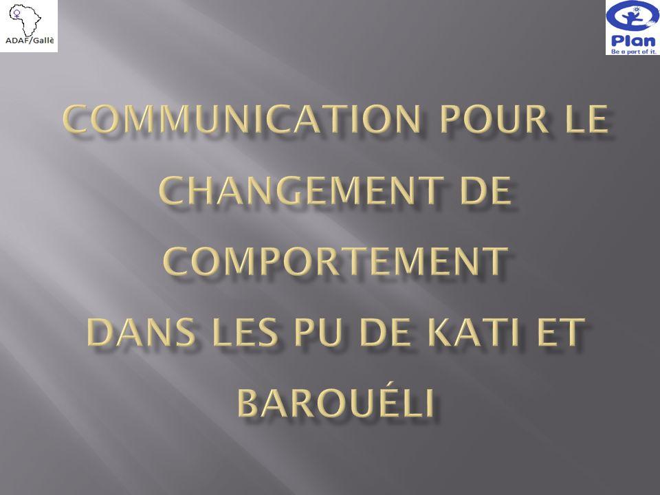 Objectif Général : Contribuer à lamélioration de l accès et de la performance de léducation préscolaire et primaire dans les Unités de Programme de Kati et Barouéli.