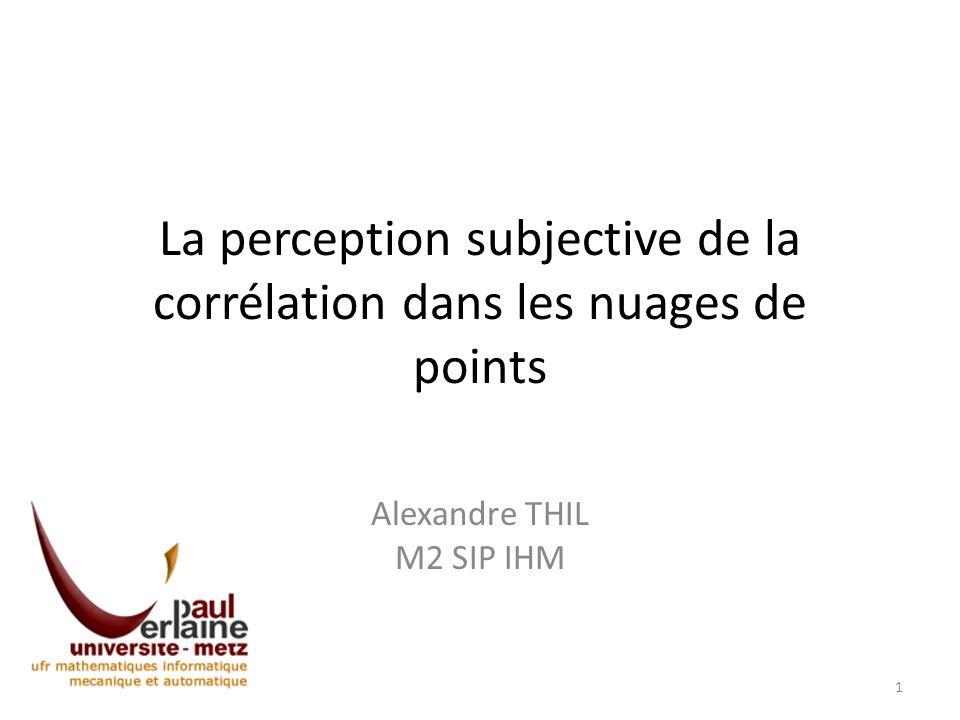 La perception subjective de la corrélation dans les nuages de points Alexandre THIL M2 SIP IHM 1
