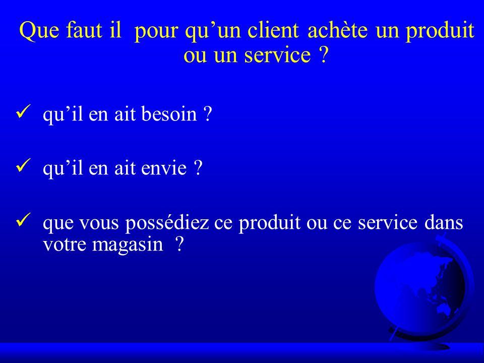 Que faut il pour quun client achète un produit ou un service ? quil en ait besoin ? quil en ait envie ? que vous possédiez ce produit ou ce service da
