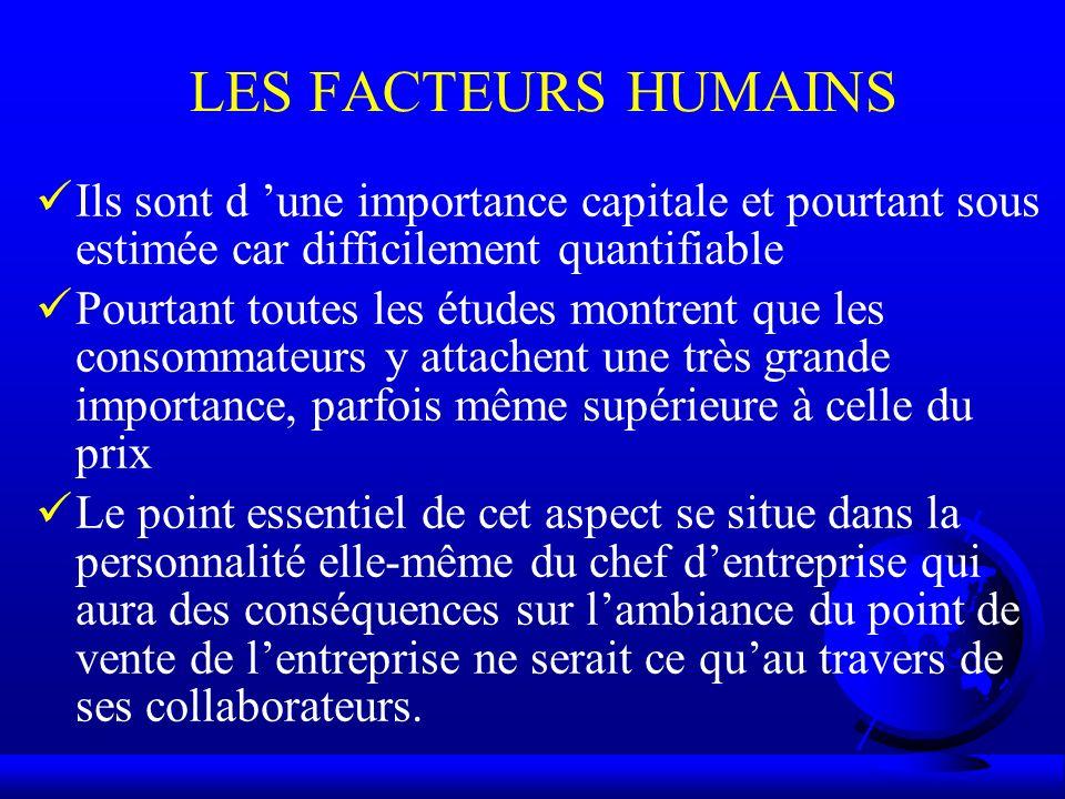 LES FACTEURS HUMAINS Ils sont d une importance capitale et pourtant sous estimée car difficilement quantifiable Pourtant toutes les études montrent qu