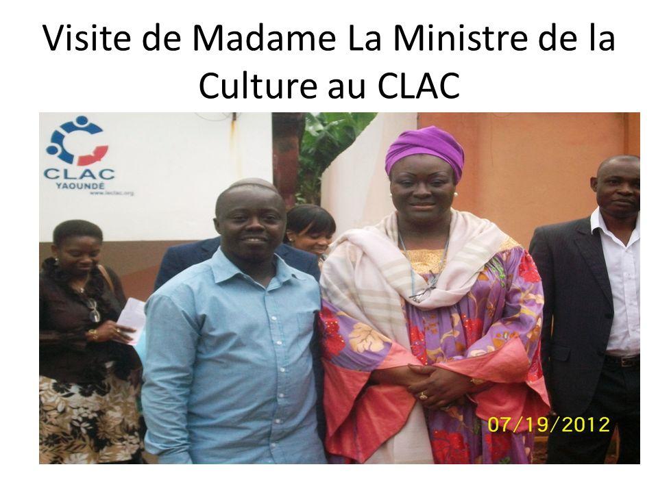 Visite de Madame La Ministre de la Culture au CLAC