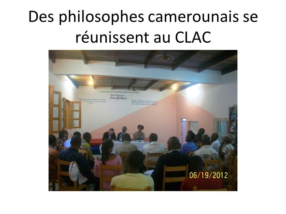 Des philosophes camerounais se réunissent au CLAC