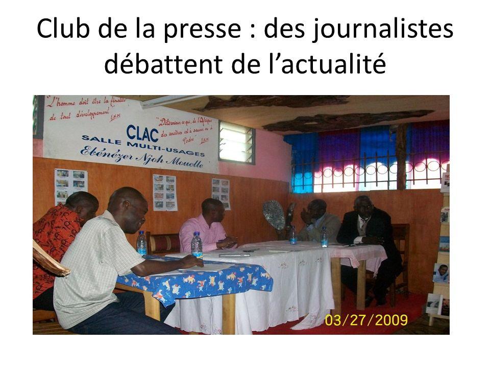 Club de la presse : des journalistes débattent de lactualité