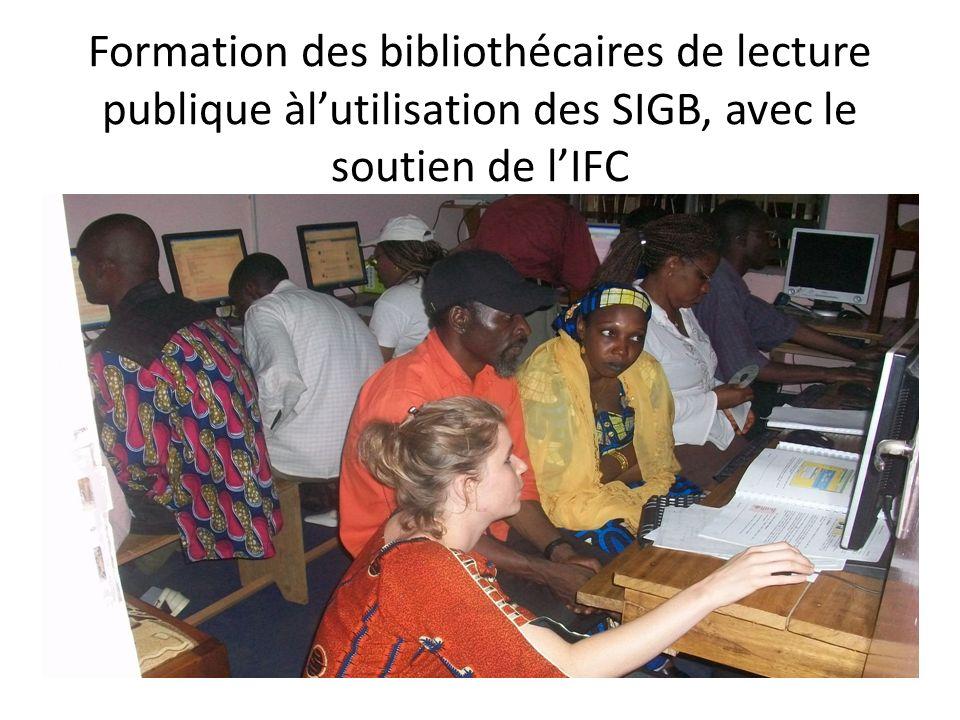Formation des bibliothécaires de lecture publique àlutilisation des SIGB, avec le soutien de lIFC