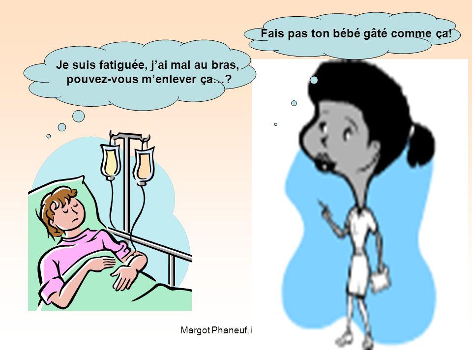 Margot Phaneuf, inf., Ph.D.28 Je suis fatiguée, jai mal au bras, pouvez-vous menlever ça….
