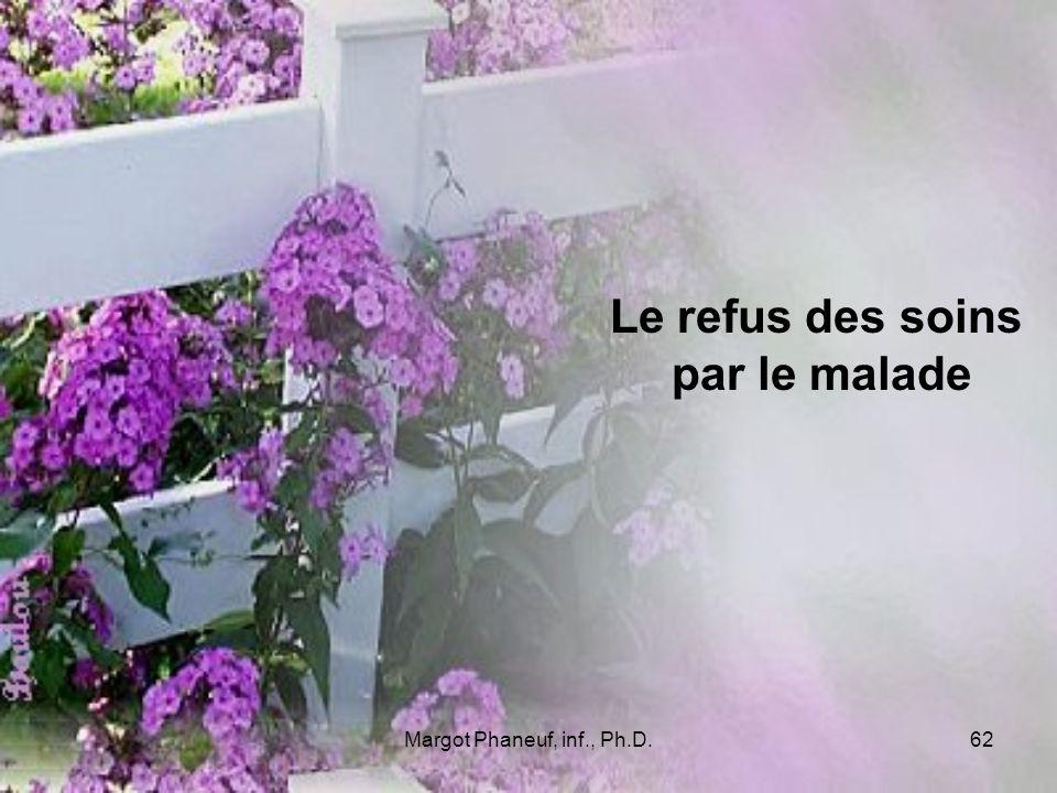 Margot Phaneuf, inf., Ph.D.62 Le refus des soins par le malade