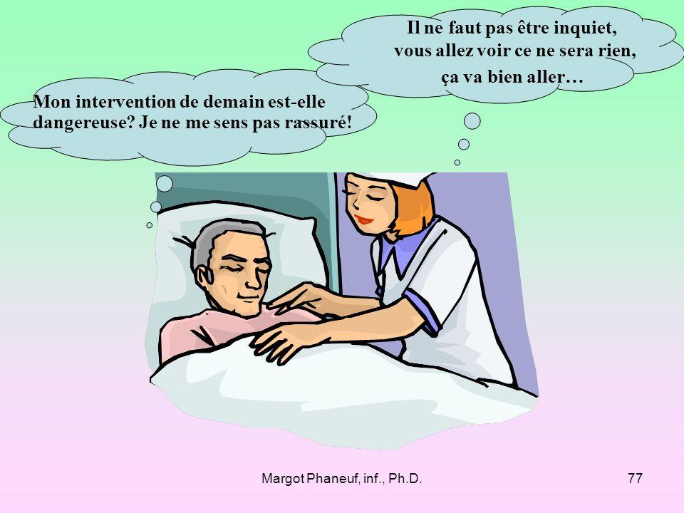 Margot Phaneuf, inf., Ph.D.77 Mon intervention de demain est-elle dangereuse.