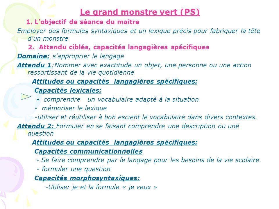 « Ressources pour enseigner le vocabulaire à lécole maternelle », Eduscol Eduscol La construction dune séquence (1)