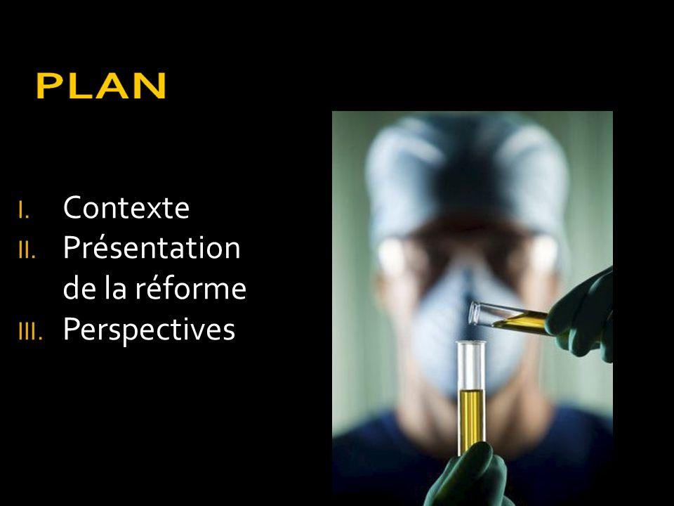 I. Contexte II. Présentation de la réforme III. Perspectives
