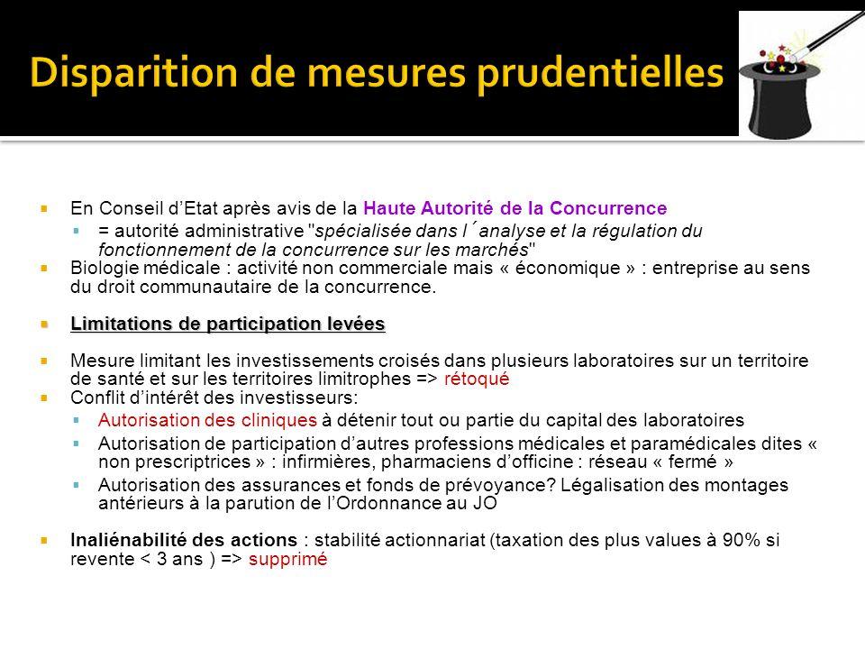 En Conseil dEtat après avis de la Haute Autorité de la Concurrence = autorité administrative