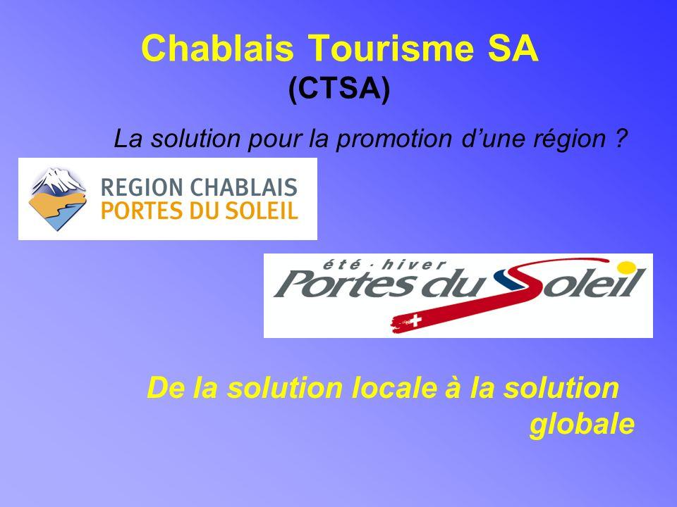 Chablais Tourisme SA (CTSA) La solution pour la promotion dune région .