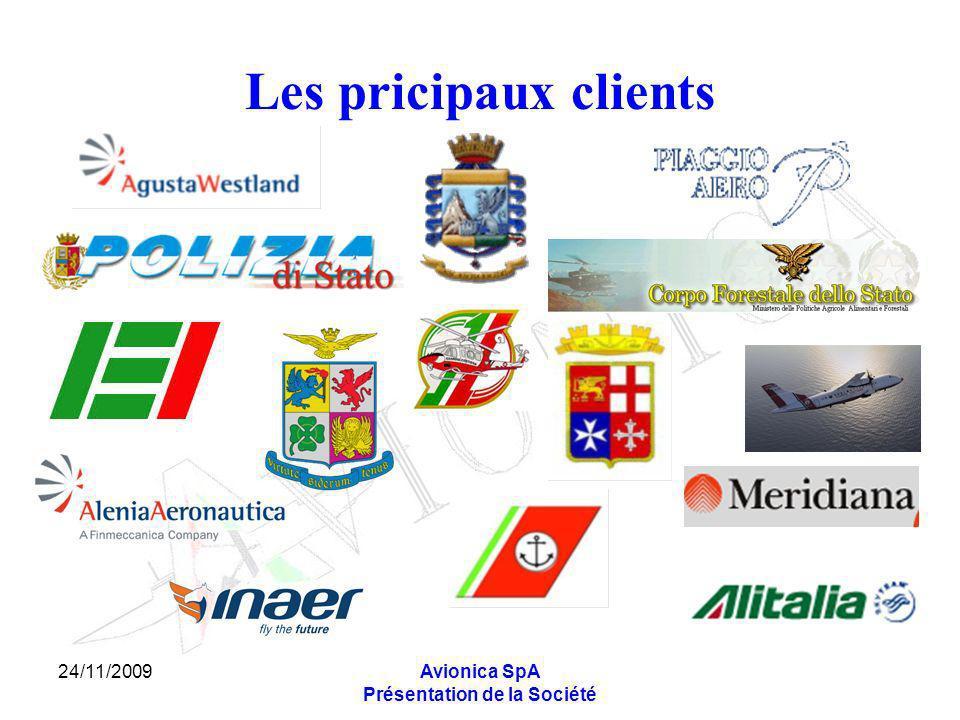24/11/2009Avionica SpA Présentation de la Société Les pricipaux clients