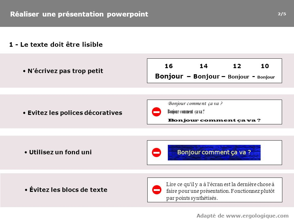 13 Lisibilité Des points, non des phrases !Des points, non des phrases .