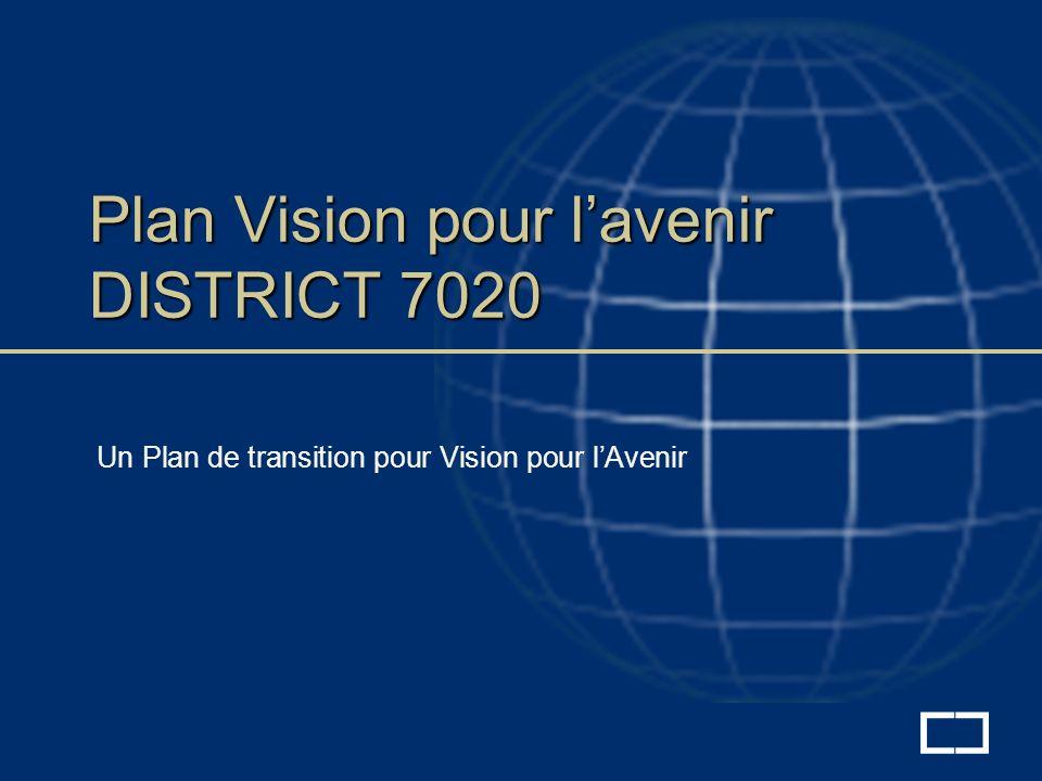 Plan Vision pour lavenir DISTRICT 7020 Un Plan de transition pour Vision pour lAvenir