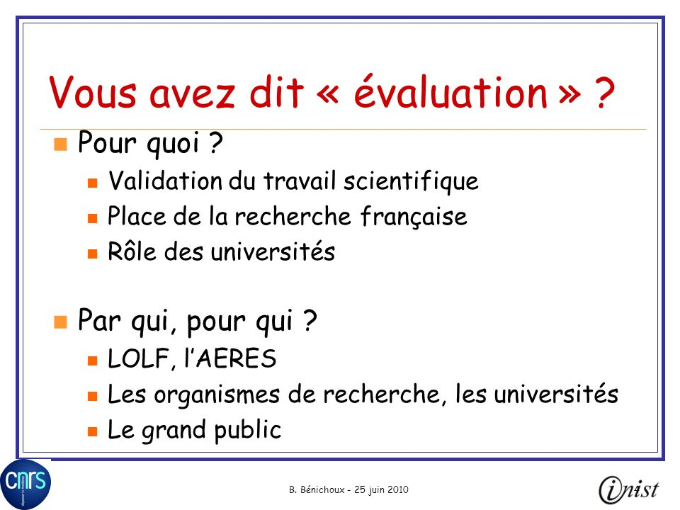 B.Bénichoux - 25 juin 2010155 Problème de repérage Author(s): Valton, S.