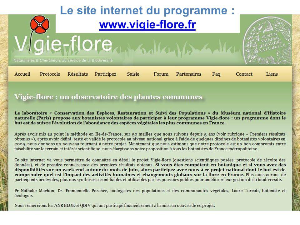 Le site internet du programme : www.vigie-flore.fr