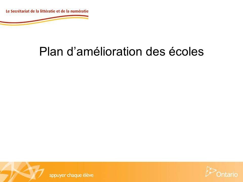 Plan damélioration des écoles