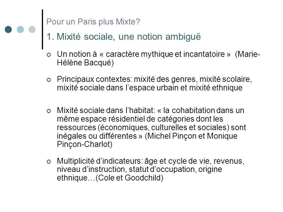 Pour un Paris plus Mixte. 1.