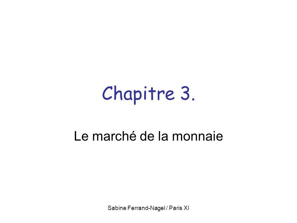 Sabine Ferrand-Nagel / Paris XI Chapitre 3. Le marché de la monnaie