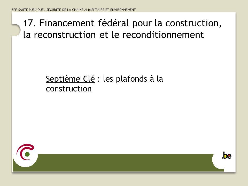 SPF SANTE PUBLIQUE, SECURITE DE LA CHAINE ALIMENTAIRE ET ENVIRONNEMENT 18.