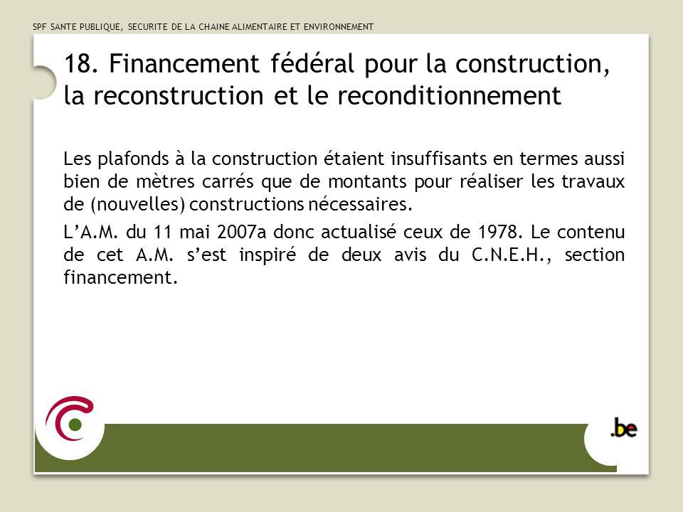 SPF SANTE PUBLIQUE, SECURITE DE LA CHAINE ALIMENTAIRE ET ENVIRONNEMENT 19.