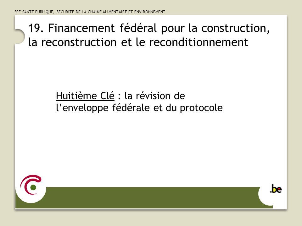 SPF SANTE PUBLIQUE, SECURITE DE LA CHAINE ALIMENTAIRE ET ENVIRONNEMENT 20.