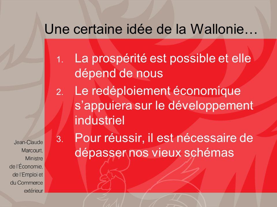 Une certaine idée de la Wallonie… 1. La prospérité est possible et elle dépend de nous 2.