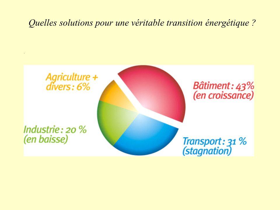 Quelles solutions pour une véritable transition énergétique ?.