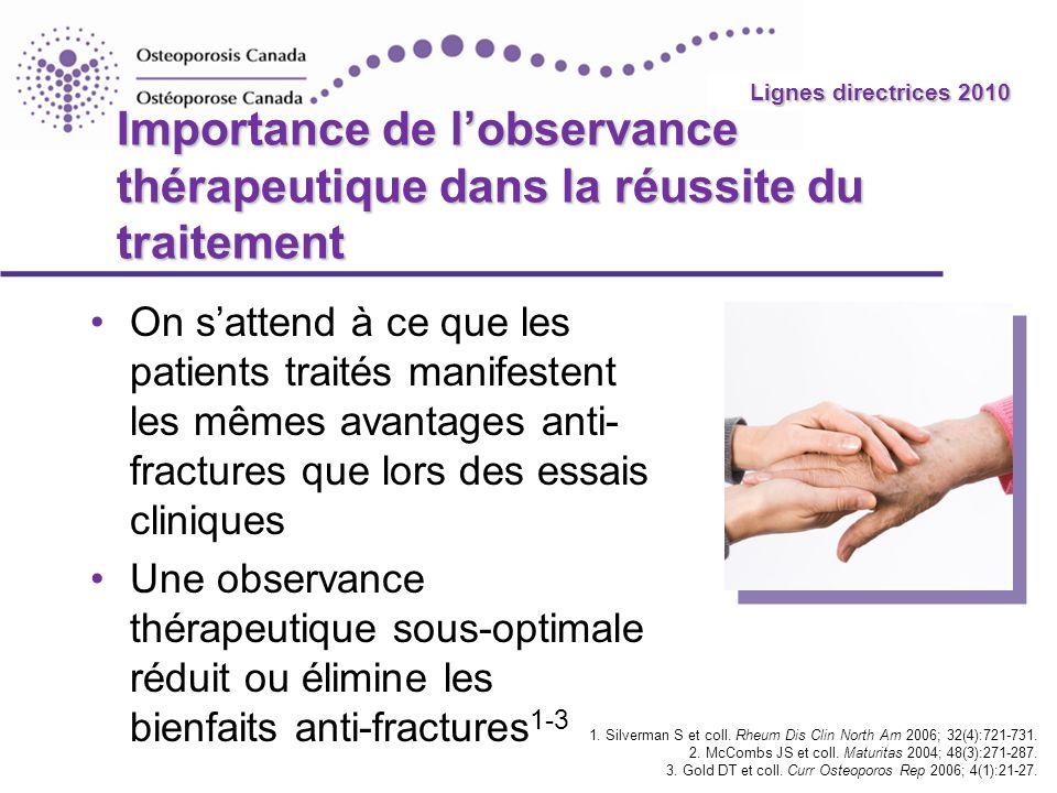 2010 Guidelines Importance de lobservance thérapeutique dans la réussite du traitement On sattend à ce que les patients traités manifestent les mêmes