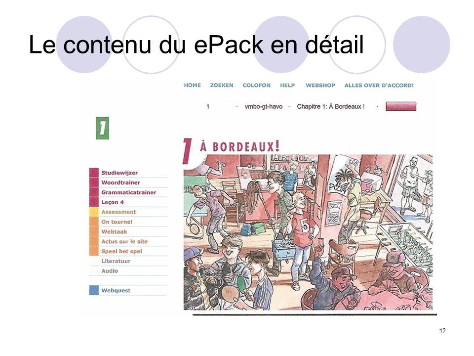 12 Le contenu du ePack en détail