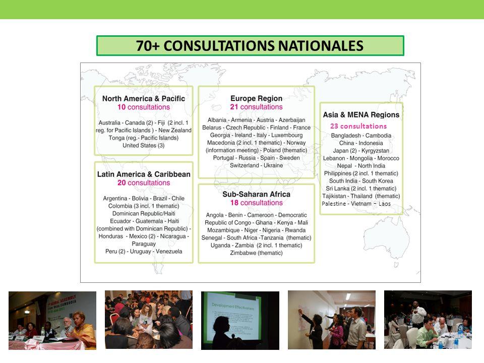 70+ CONSULTATIONS NATIONALES - Laos Palestine - 23 consultations