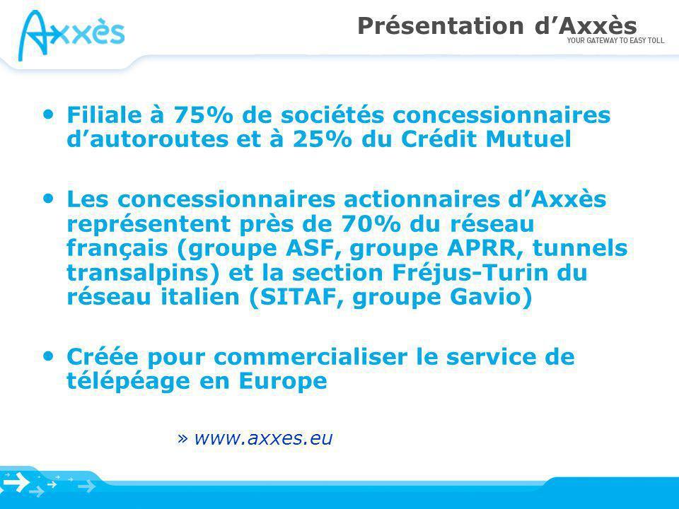 Axxès joue le rôle dEETS Provider et entend développer son offre de service de télépéage en Europe Merci de votre attention Retrouvez Axxès sur son site www.axxes.eu
